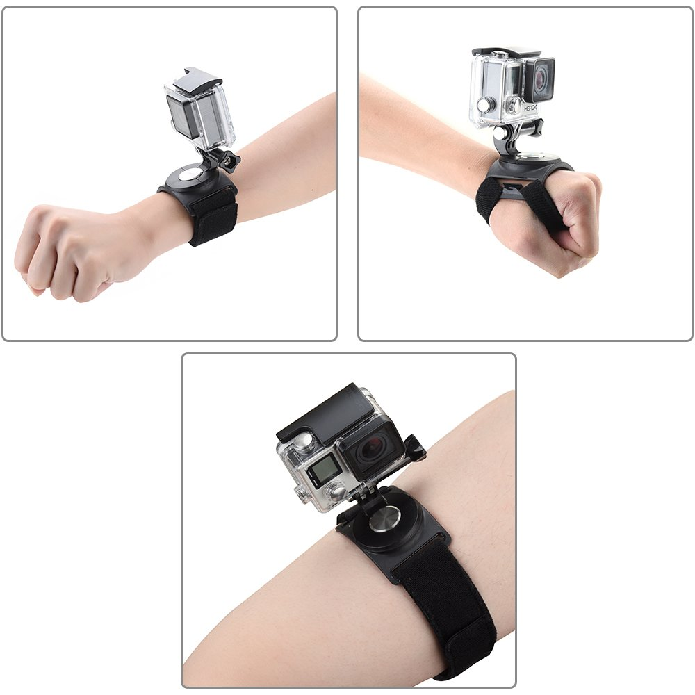 Pieviev GoPro Wrist Strap Mount Strip Belt with Screw for GoPro