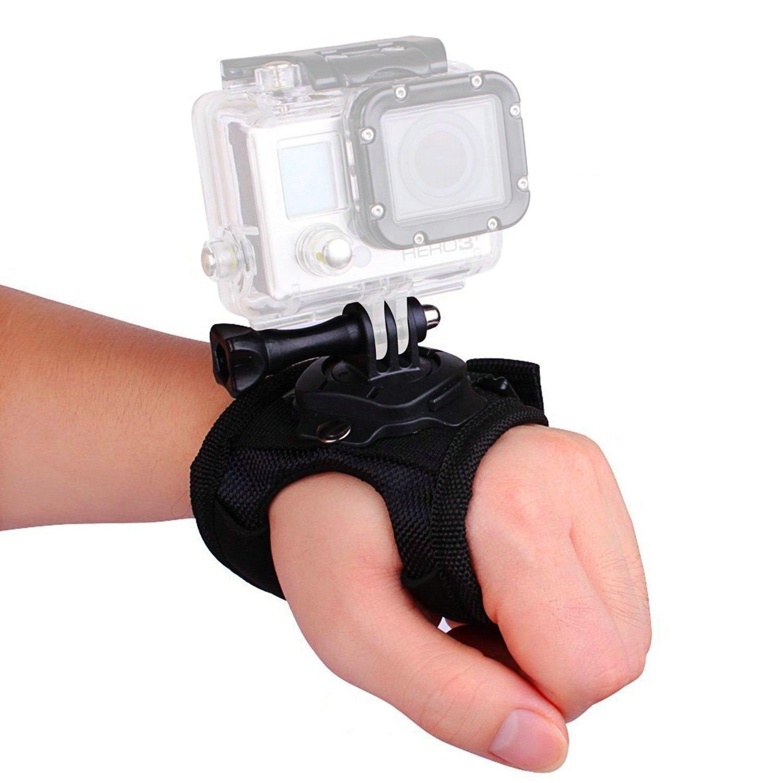 VVHOOY 360 Degree Rotation Glove Style Band Wrist Strap Mount Strip
