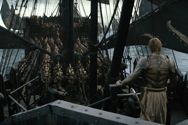 Who is that guy standing on the Greyjoys boat