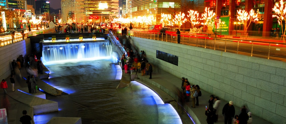 Cheong-gye-cheon - Tourist Destinations In Seoul