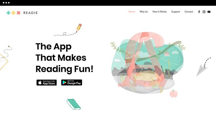 Kids App Landing Page