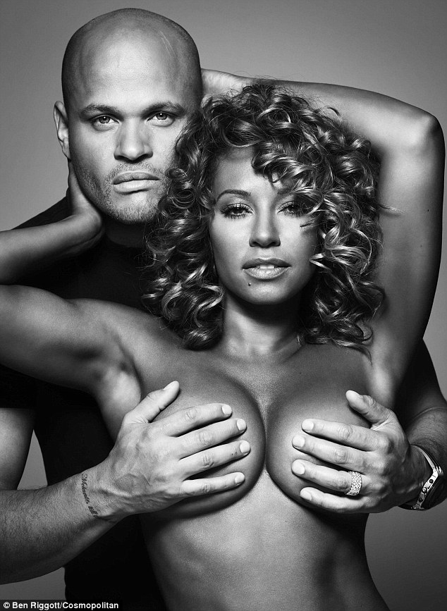 Mel B Goes Topless To Promote Breast Cancer Awareness