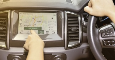 Driving Along GPS Navigation System