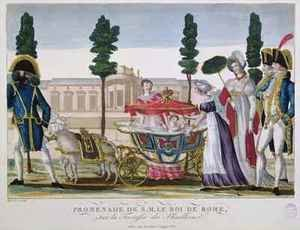Walking With The King Of Rome 1811-32 On The Tuileries Terrace