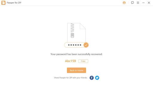 crack zip password successfully
