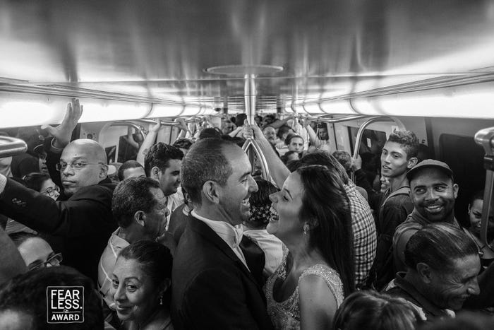 Photographers combined everyday life with wedding activities to create some of the most unique photos.