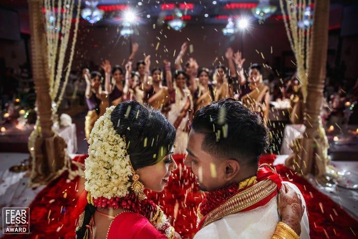 Photographers used close-up shots to showcase couples' emotions.