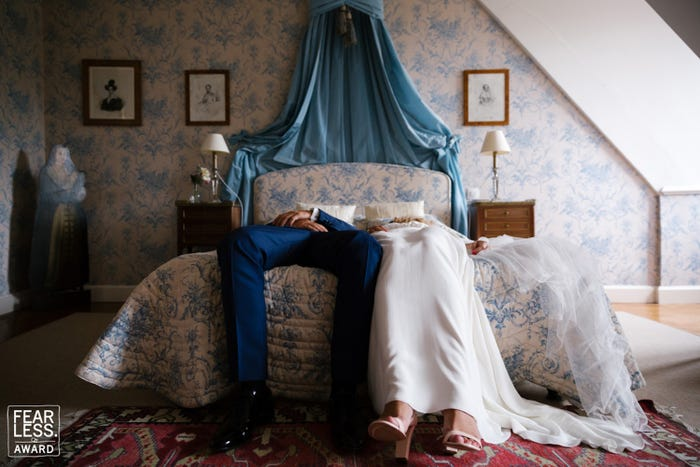 The photographers captured how exhausting weddings can be.