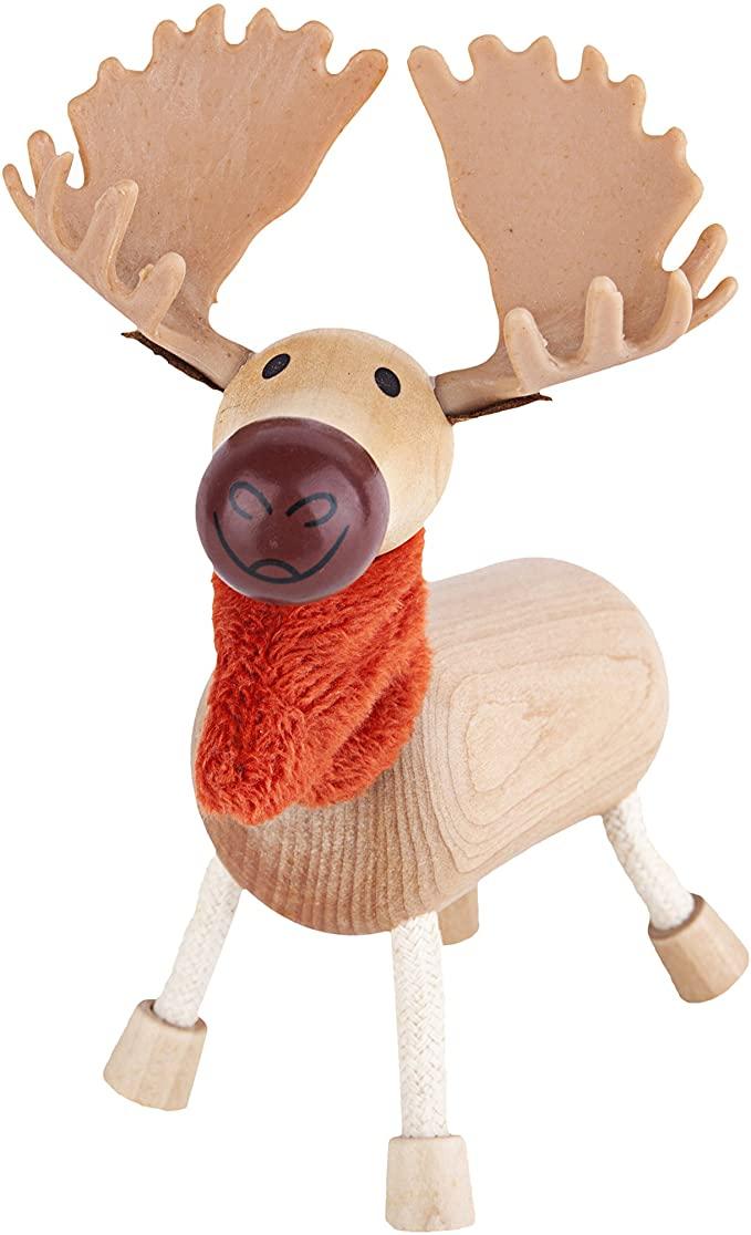 AnaMalz Wooden Moose Figure