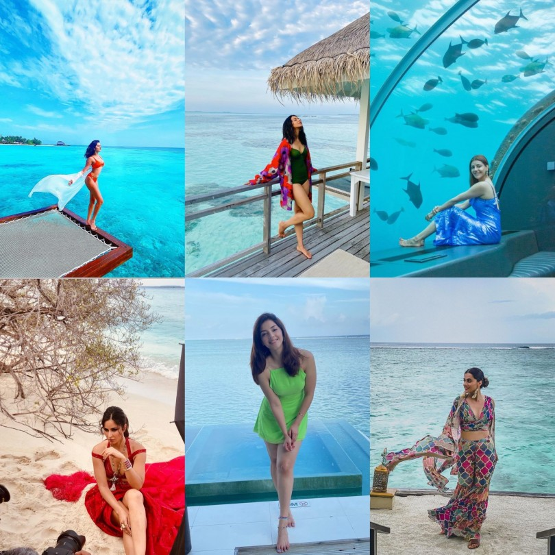 Bollywood Celebs At The Beach In The Maldives