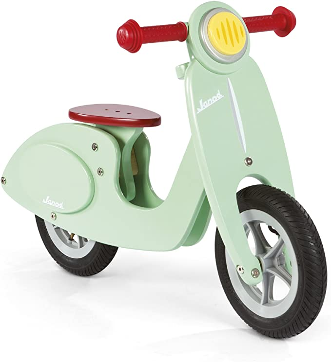 Janod Scooter Mint Balance Bike Ride On, Mint