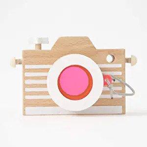 kiko+ Kaleidoscope Wooden Camera - Pink Lens