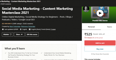 Apply For Content Marketing Masterclass 2021 Course